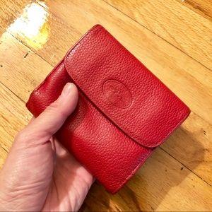Handbags - Longchamp red leather wallet